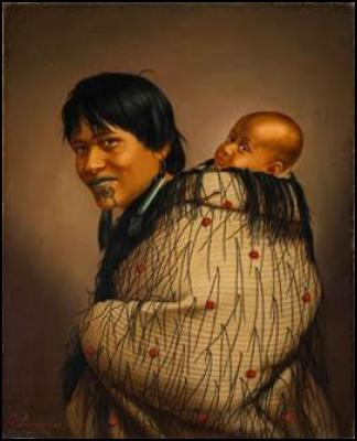 Ana Reupene Whetuki and Child (1878) Oil on canvas