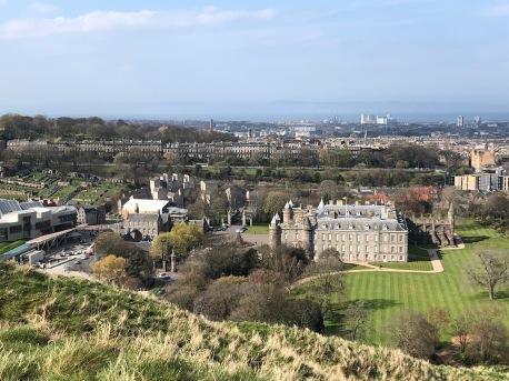 Overlooking Holyrood